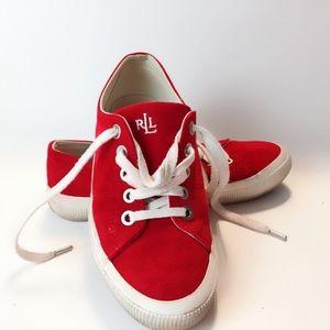 RLR Red Kidsuede Sneakers